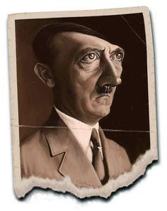 Caricatura de Adolf Hitler.