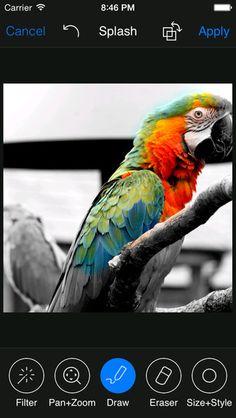 Photo Artist - Photo Editor: Skapa med olika struktur, få fram en känsla av att bilden är målad på olika underlag med olika typer av färg, effekter, ramar, klistermärken, pratbubblor mm