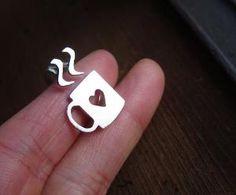 Love mug Ring Sterling Silver