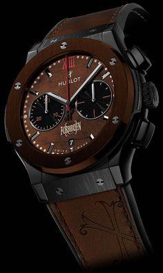 La Cote des Montres : La montre Hublot Classic Fusion « Arturo Fuente ForbiddenX » - Le cadran des montres a été réalisé avec de vraies feuilles de tabac