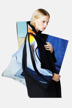 Fashion Editorial: Theories of Evolution by BULLETT Fashion Collages: Meriç Canatan. Stylist: Esra Dandin. Photographer: Osman Özel. Model: Lina @ Option Model Management. Hair: Murat Bulut. Make up: Murat Bekler.