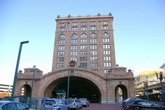 Pittsburgh, PA train station by kla4067, via Flickr...the tall building was built as a railroad hotel and is now condominiums.