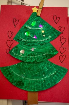 christmas tree craft with paper plates by carlani