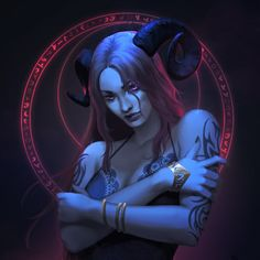 Night Succubus by GraceZhu.deviantart.com on @DeviantArt - More at https://pinterest.com/supergirlsart #female #fantasy #art
