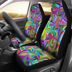Abstract Car Seat Covers
