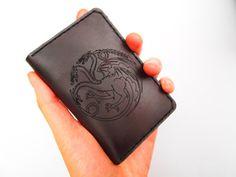 Targaryen Dragon Sigil Leather Bifold Wallet by Hedj on Etsy, $65.00