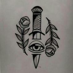 Dagger eye rose