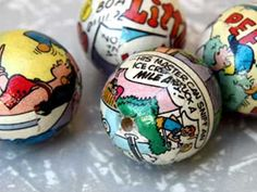 cool - Comic paper mache beads