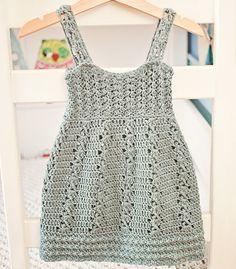 Crochet dress PATTERN Sea Breeze Dress sizes up by monpetitviolon