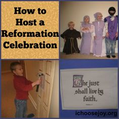 How to Host a Reformation Day Celebration: ideas for games, costumes, activities