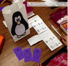 Penguins! Math and Literacy Activities!
