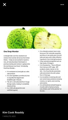 One Drop Wonder IS  a natural   miracle oil!! Read up on it's properties!!!