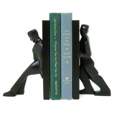 """These bookends would hold my husband's """" I Wanna"""" spendings records....each end saying....""""no you pay for it""""...."""