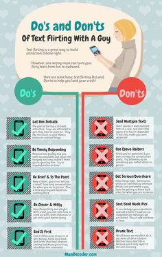 Text Flirting Dos And Don'ts #Infographic
