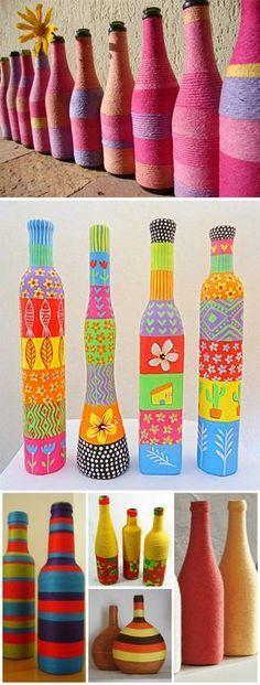 Inspirações para #reutilizar as #garrafas que sobraram das festas de fim de ano…
