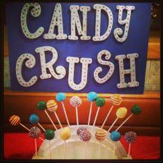 Candy crush inspired cake pops