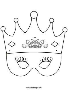 Principessa: maschera da colorare - TuttoDisegni.com