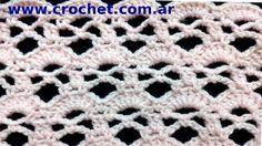 Punto fantasía nº 70 en tejido crochet tutorial paso a paso.