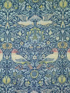 bird fabric, art crafts, pattern, 1878, fabric design, textil, beauty art, birds, william morris