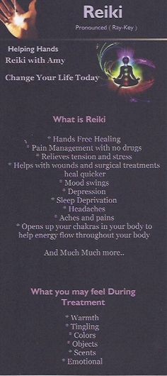 What reiki will do for you :)      What you may feel during treatment? ALIVE!