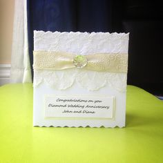 Diamond Wedding anniversary card by Bethany Looijenga