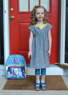 Oliver + S - Roller Skate Dress // Sewing for the first day of first grade | The Inspired Wren