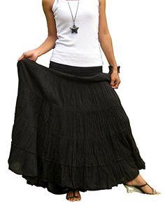 6c12ddb001c Billys-Thai-Shop-Plus-Size-Maxi-Skirt-Long-. Maxi Skirt BohoMaxi Skirt BlackPleated  SkirtDress ...