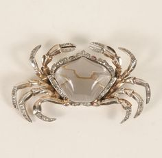 Trifari jelly belly crab brooch