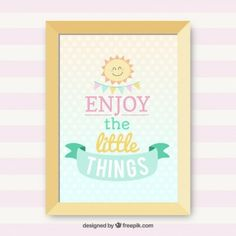 Enjoy the little things lettering