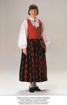 Kurikka, Finland Folk Costume, Costumes, Costume Patterns, Traditional Dresses, Finland, Beautiful People, Europe, Sewing, How To Wear