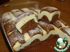 Cottage cheese quilt cookie, soft chocolate pasta and mouth-watering cottage cheese filling! Nobody can resist that! Hungarian Desserts, Romanian Desserts, Russian Desserts, Russian Recipes, Sweet Pie, Sweet Tarts, Chocolate Pasta, Cake Recipes, Dessert Recipes