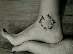 Ankle Tattoo - huh... I actually kinda like this