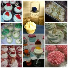 Boozy bakes alcohol/liquor infused cupcakes. Ciroc, tequila,  rum