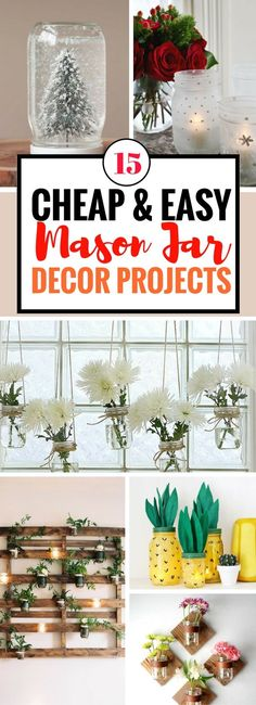 So glad to have found this fun and cheap ways to make use mason jars. Love how unique these mason jar diy projects are. And they actually make really awesome Christmas DIY gifts.
