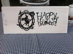 """""""Happy Halloween """" bord voor eigen voortuin"""