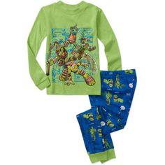 Teenage Mutant Ninja Turtle Boys' 2 Piece Etch a Sketch Cotton Pajama Set