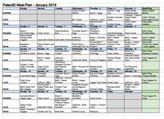 Paleo30 Meal Plan