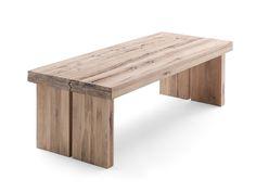 Table DUSTIN en chêne naturel pour salle à manger | Massivum