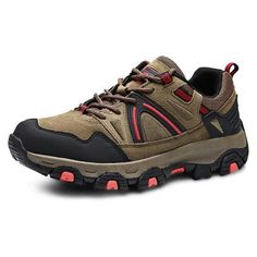 Male Shoes - $32.99 🔥 Male Versatile Soft Outdoor Hiking Non-slip Athletic Shoes 40 BROWN  #Versatile, #Hiking, #Shoes, #кроссовки, #gearbest  9682