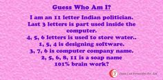 Its Thursday back again, the Quiz day. Solve this interesting puzzle.