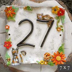 Custom House Numbers  Ceramic and Hand by BlueFishStudiosShop, £23.00