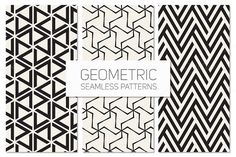 Geometric Seamless Patterns Set 5 by Curly_Pat on @creativemarket