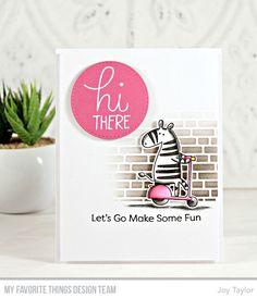 Simple By Design Handmade Greeting Card Designs, Joy Taylor, Mft Stamps, Animal Cards, Card Sketches, Scrapbook Cards, Scrapbooking, Zebras, Homemade Cards