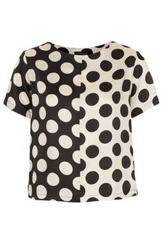 Half and Half Spot Tee by TopShop