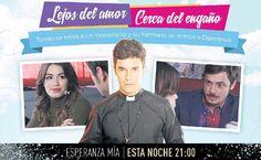 Hoy en Esperanza Mia:Lejos de amor,cerca del engaño.Tomas se retira a un monasterio y su hermano se acerca a Esperanza...