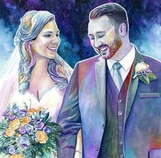Personalized HUSBAND CHRISTMAS GIFTS ideas Custom wedding portrait First Xmas present from wife to husband Romantic Free shipping Handmade 5th Wedding Anniversary Gifts For Him, Watercolor Portrait Painting, Valentine Gifts For Girlfriend, Wedding Portraits, Original Paintings, Drawings, Illustration, Artist, Christmas Gifts