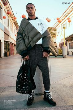 Keith Powers for Vulkan Magazine Black Men Street Fashion, Monochrome Fashion, Aesthetic Fashion, Aesthetic Clothes, Pink Aesthetic, Keith Powers, T Power, Beautiful Men Faces, Beautiful People