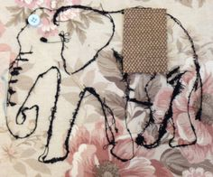 I will use different fabrics when doing the final piece, there also will be 4 of the elephants.