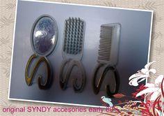 accesorios piene , cepillo y espejo originales SINDY STYLING SINDY 1980