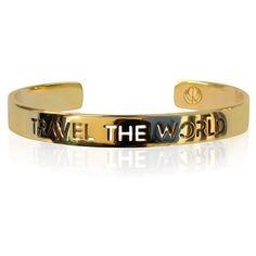 TRAVEL THE WORLD Bangle ($190) ❤ liked on Polyvore featuring jewelry, bracelets, bangle bracelet, 24 karat gold jewelry, heart shaped jewelry, bracelets bangle and heart bangle